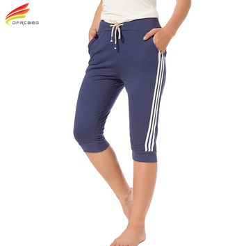 3XL Summer 2017 Women Casual Tracksuit Pants Casual Loose Harem Pants Femme Cotton Pantalon Seven Short Capris Trousers
