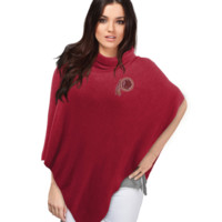Washington Redskins Crystal Knit Poncho