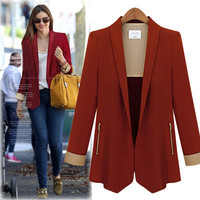Women's Trending Popular Fashion 2016 Slim Long Long Sleeve Business Casual Suit Outerwear Jacket _ 5352