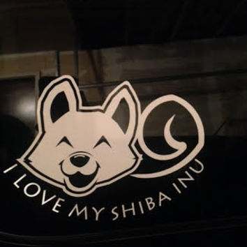 Love My Shiba Inu Window Decal