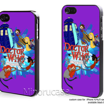 adventure time doctor who Custom case For iphone 4/4s,iphone 5,Samsung Galaxy S3,Samsung Galaxy S4 by minorucase on etsy