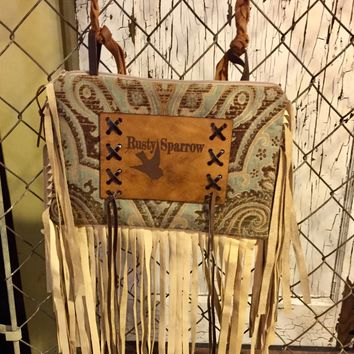 Fringe Rusty Sparrow Purse