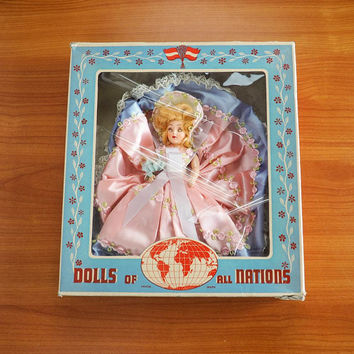 Vintage Duchess Dolls of All Nations Bridesmaid Doll Original Box