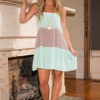 Ice Cream Sunday Dress, Mint