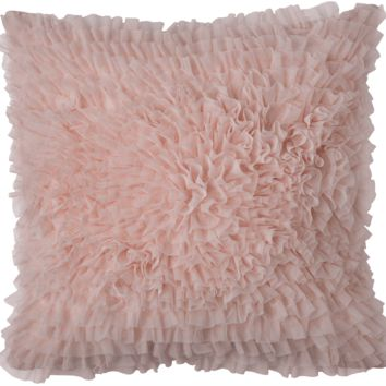 Coco Blush Sheer Square Pillow by Lili Alessandra