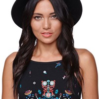 Kendall & Kylie Detail Band Fedora - Womens Hat