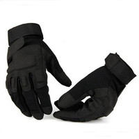 Outdoor Army Men Leather Gloves Tactical Full Finger Gloves
