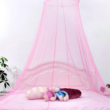Hot Round Lace Insect Bed Canopy Netting Curtain Dome Mosquito Net Outdoor no door nets for Good sleep Princess Bed Essential