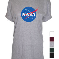 Nasa UNISEX womens mens top Tshirt visit shop cosmic space exploration | eBay