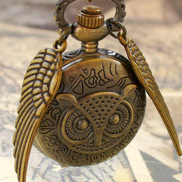 Steampunk Harry Potter Flying OWL WATCH by UmbrellaLaboratory