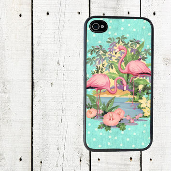 Pink Flamingo iPhone Case - iPhone 4 4s Case - iPhone 5 Case