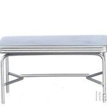 1:12 Scale 1950s Style Table and Chairs, Silver #T5933