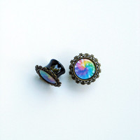 "Digital Tie Dye Picture Plugs or Post Earrings 6g 4g 2g 0g 00g 7/16"" 1/2"" 9/16"" 5/8"" 3/4"" 7/8"" 1"""