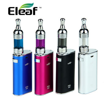 Eleaf iStick E cigarette Kit 50W iStick 4400mAh Battery Box Mod & 5ml SMOK Trophy Tank V2 Bottom Coil Pyrex Glass Tank Atomizer