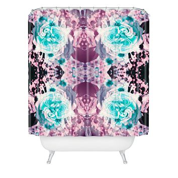 Caleb Troy Black Light Garden Shower Curtain
