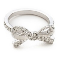 Skinny Mini Pave Bow Ring