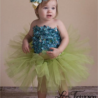 Flower Girl Dress, Tutu Dress, Blue Tutu Dress, Green Tutu Dress, Outfit of Choice, Pageant Dress, 3m, 6m, 9m, 12m, 18m, 24m