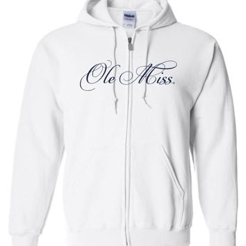 Official NCAA University of Mississippi Rebels Ole Miss Hotty Toddy Zip Hoodie - OLM01