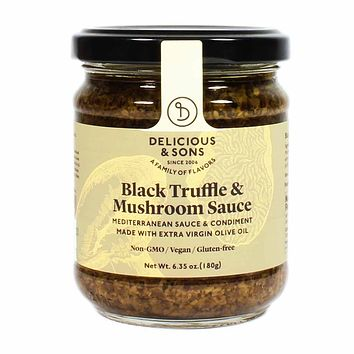 Delicious and Sons - Italian Black Truffle and Mushroom Sauce, 6.3 oz.