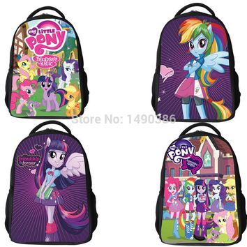 New Fashion Cartoon Backpacks for Teenagers Girls My Little Pony Backpack Kids School Bags Cute Boy Pony Horse Bag Child Mochila