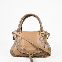 "Chloe Brown Grained Leather ""Medium Marcie"" Shoulder Bag"