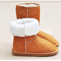 25cm Upper Mix Match Korea Style Dry Acrylic Snow Boots For Women China Wholesale - Sammydress.com
