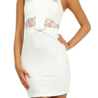 Jewel Bodycon Dress - White