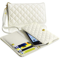 BasAcc White Leather Wallet Case for Apple iPhone 5 | Overstock.com
