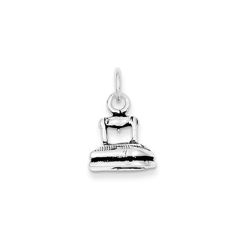 Sterling Silver Antiqued Clothing Iron Charm