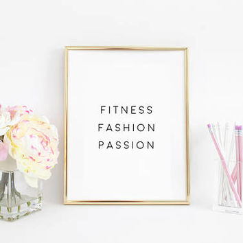 Fashion Print,Fashion Decor,Inhale Exhale,Yoga Print,Yoga Quotes,Gim Poster,Girls Room Decor,Fitness Poster,Inspirational Quote,Dorm Room