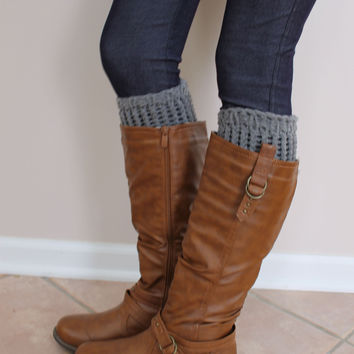 Gray Boot Cuffs