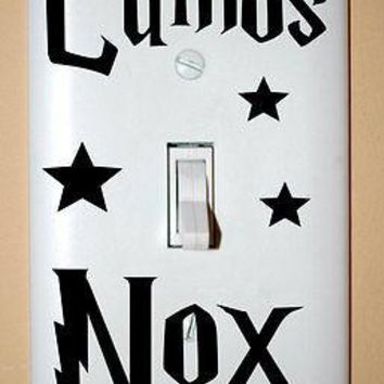 Harry Potter Vinyl Lumos Nox Light Switch Decals 3pcs per set