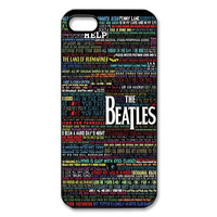 The Beatles soundtracks listed typography Plastic Hard Case Skin for iPhone 4 4s 5 5s 5c 6 6s 6 PLUE 6s plus MSC