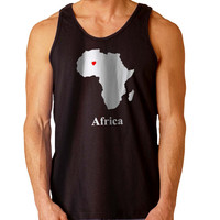 AFRICA LOVE MAP For Mens Tank Top and Womens Tank Top *