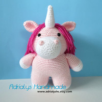 Crochet Pink Unicorn- Stuffed Unicorn- Unicorn Plush- Mythical Creatures- Legendary Creatures- Handmade Unicorn- Crochet Toy- Ready to Ship