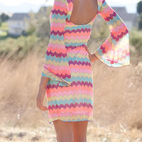 Multi Pink Missoni Print Fully Lined Dress