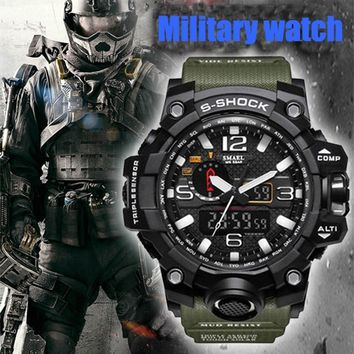 Men's Military Waterproof Sports Shock Analog Quartz Dual Display Digital Led Watches