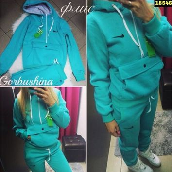 Hoodies Pants Set Winter With Pocket Casual Hats [10885113799]