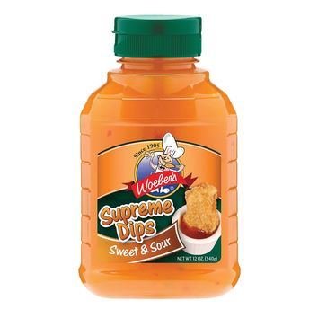 Woeber's Supreme Dips Sweet And Sour Dip - Case Of 6 - 10 Oz.