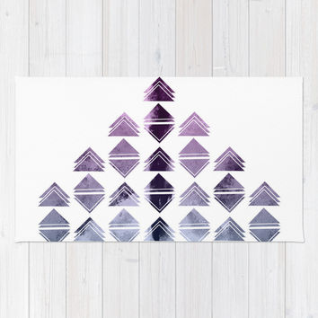 Rhombus triangles Rug by VanessaGF