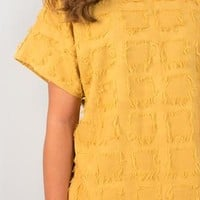 Stay Golden Textured Blouse