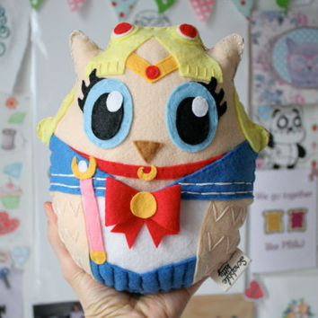 Sailor Moon Owl - Handmade Felt Plush Toy