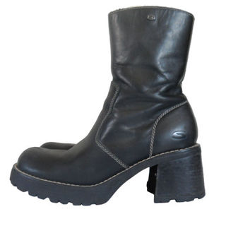 90s Platform Boot Black Platform Boot 90s Chunky Heel Boot 90s Black Boot Block Heel Boot Platform Skechers Boot Women Boot 90s Rave Boot