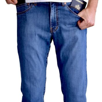 The Best Travel Jeans in the World for Men | Cool Faded Indigo