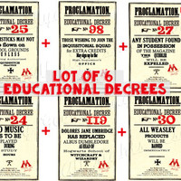 Lot of 6 Educational Decree Dolores Umbridge proclamation INSTANT DOWNLOAD printable pdf Ministry of Magic Hogwarts Harry Potter
