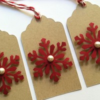Christmas Snowflake Gift Tags, Set .. on Luulla
