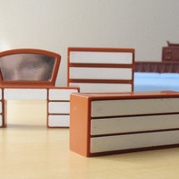 midcentury dollhouse furniture collection Renwal by ionesAttic