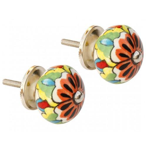 Hand painted ceramic drawer knobs from souvnear for Painted ceramic cabinet knobs