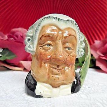 "Royal Doulton China Toby Character Jug The lawyer -Mini 2.3/4"" tall"