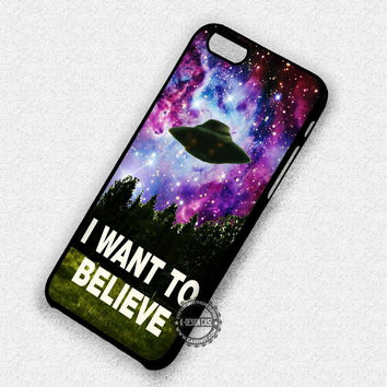 X-Files On Galaxy - iPhone 7 Plus 6 SE Cases & Covers